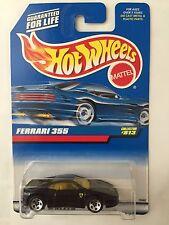 Hot Wheels FERRARI 355 - Black 1998 Mainline Cars #813 berlinetta f355 sportscar