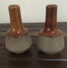 Dana Diana Pottery Safari Salt Pepper Shakers Australian Pottery 1960s EC