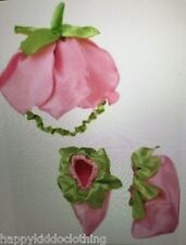NWT Gymboree HALLOWEEN flower fairy pink hat booties set size 2-3 2t 3t costume