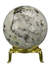 BUTW Moonstone and  Tourmaline Healing  2 inch Crystal Sphere with stand 4784K