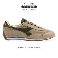 Diadora Heritage Scarpe Uomo Equipe s sw 18 Camoscio beige verde grey cabbleston