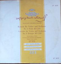 """MOZART-violin & orch. concerto-JOHANNA MARTZY-DG Ed.1-GERMANY 1955-10"""" 16119 NM"""