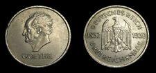 Germany 1932-A, 3 Reichsmark, Johann Wolfgang von Goethe, KM-76, EF 4942