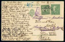 Mayfairstamps Sweden 1922 Lanchem to Austria Short Paid Uprated Stationery Card