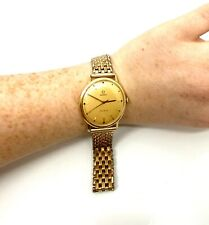 Vintage Gents 1960's 18ct 750 Gold Omega Geneve Manual Wind Wristwatch Boxed