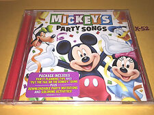 Disney MICKEY MOUSE PARTY SONGS hits CD tail on donkey london bridge hot potato