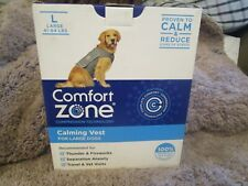 New listing Comfort Zone Calming Vest for Dogs, Large, For Thunder and Anxiety