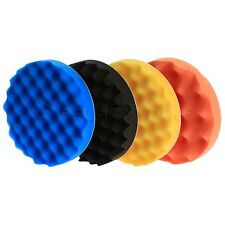 "4Pcs 180mm/7"" Waffle Buffer Foam Pad Pads Kit For Car Polisher Polishing Buffing"