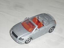 1:64 Majorette Audi TT Convertible Silver 1.8 Turbo n 32 V6 Quattro 8N 8J Cabrio