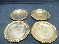 USED Vintage Antique retro Set of 4 made in italy silver plated coasters