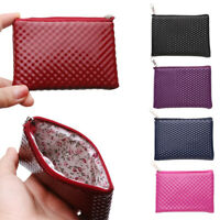 Leather Coin Purse Small Wallet Lipstick Storage Pouch Credit Card Holder