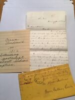 1870 Handwritten Letter  Orra Andrews Indian Captive Corning NY Frances Gillette