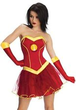 Ladies Sexy Marvel Avengers Iron Man Superhero Tutu Fancy Dress Costume Outfit