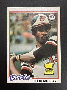 Eddie Murray 1978 Topps Rookie Card #36 Orioles HOF RC