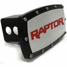 "Ford Raptor F-150 Red Billet Aluminum 2"" Hitch Cover Plug Black Powder Coated"