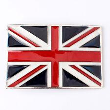 Vintage British Flag Belt Buckle Western Cowboy Motorcyclist (FLG-03)