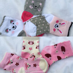 baby babies girls girly socks pink white grey 0-0 0-2.5 3-5.5 cotton rich (3pak)