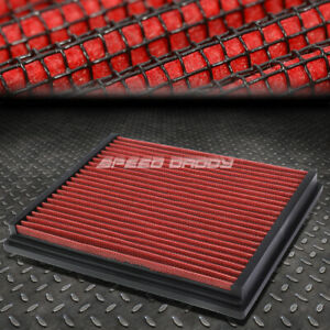 FOR A4/A6/QUATTRO/S4/S6 RED REUSABLE/WASHABLE DROP IN AIR FILTER PANEL