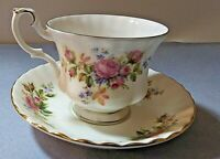 Royal Albert Moss Rose bone china cup & saucer set