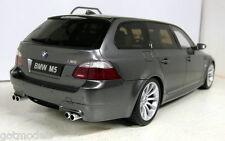 OTTO 1/18 SCALA BMW m5 Touring e61 Metallizzato Grigio/Argento Resina Cast Modello Auto
