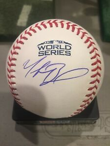 MOOKIE BETTS AUTOGRAPHED BASEBALL RED SOX 2018 WORLD SERIES FANATICS MLB CERT