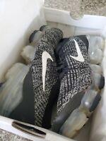 Nike Air Vapormax Flyknit 3 Black White Metallic Silver AJ6900-002 Men's Size 9