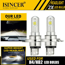 2pcs H4 LED Headlight Fog Light Super Bright Bulb 80W 4200LM HI/LO Beam 6000K