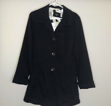 Maurices Womens Long Trench Coat Jacket Button Down Collar Long Sleeve Medium