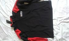 MENS BNWT FILA BLACK AND RED 1/2 ZIP TRACKSUIT TOP SIZE XXL