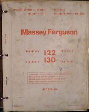 Massey Ferguson remorqueur 122 + 130 catalogue de pièces de rechange