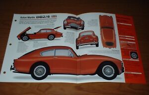 ★★1957 ASTON MARTIN DB2/4 MK III ORIGINAL IMP BROCHURE 57 DB 2/4 MARK 3 INFO★★