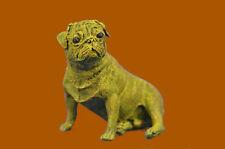 Close Out Statue Dog Bulldog Wildlife Art Deco Style Art Nouveau Style Bronze NR