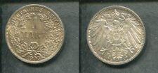 KAISERREICH 1906 A - 1 Mark in Silber, vz/stgl. - ADLER - ERHALTUNG!
