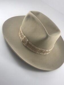 J.B. Stetson XXXXX Light Tan Cowboy Hat Size 6 7/8