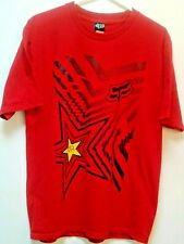 """FOX Racing Red T-Shirt ROCKSTAR Size L Chest: 39"""" or 99 cm"""