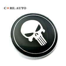 1PC 82mm Car Front Emblem Skull The Punisher Badge For BMW E36 E30