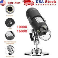 1000x 1600x 10mp 8led Light Digital Microscope Endoscope Camera Magnifier Usb
