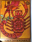 Vintage 1960's 1970's Jane Oka SCORPIO Zodiac Poster Horoscope OCT NOV