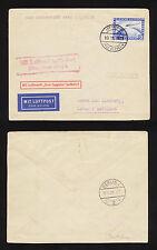 1929 Oct 11 MIT LUFTSCHIFF GRAF ZEPPELIN Cover Envelope Vtg Airship Berlin Post