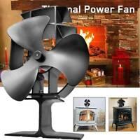 Heat Powered Stove Top Fan Wood Log Fire Burning Burner Eco Friendly 3 Blade