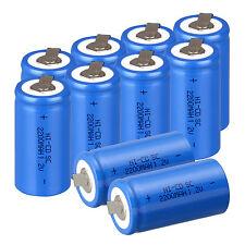 10pcs Sub C SC 1.2V 2200mAh Ni-Cd NiCd/NiMh Batterie Ricaricabili ,Blu