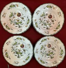 Sarreguemines décor Clarence lot de 4 assiettes creuses, 22,5 cm