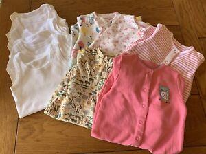 Lovely Girls 0-3 Month Sleepsuit And Bodysuit Bundle: JOHN LEWIS, M&S, NEXT