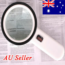 New 105mm Handheld 20x Magnifying Glass Lens Magnifier with 12 LED Lights