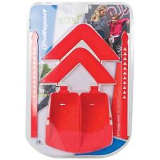 PAIR OF RED FOOT RESTS WITH STRAPS FOR OK BABY ORION BABY//CHILD SEAT OKB444