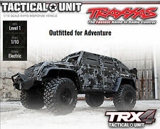 Traxxas Trx82066-4 Trx-4 Tactical Look militaire 1-10 Robot 2 4 GHz Link capable
