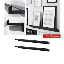 "IKEA 2-Pk Picture Ledge MARIETORP 29.5"" Floating Shelf Black Book Holder Rack"