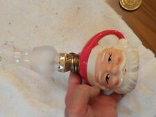 SANTA CLAUSE  FACE  MINIATURE OIL LAMP WITH CHIMNEY