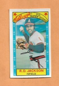 RONNIE JACKSON 1979 KELLOGGS 3-D SUPERSTARS CARD # 59