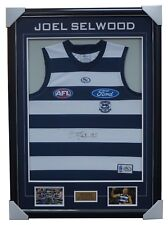 Joel Selwood Geelong Jumper Signed with Cards Framed CAPTAIN TRIPLE PREMIERSHIP